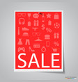 paper sale banner on gray background vector image