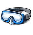 Diving goggles mask fast sketch vector image vector image