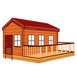 wooden cottage with terrace vector image