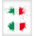 Grunge italian ink splattered flag vector image vector image