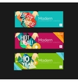 Set of banners with stickers labels and elements vector image vector image