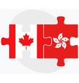 Canada and Hong Kong SAR China vector image