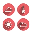 Weather icons Cloud and sun Temperature symbol vector image