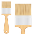 Wooden brush vector image