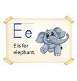Alphabet E vector image