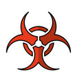 biohazard sign isolated icon vector image