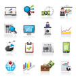 Business and Market analysis icons vector image