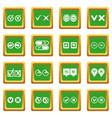 check mark icons set green vector image