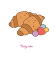 delicious croissants modern design flat vector image