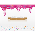 Icing with sprinkles vector image