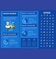 industry infographic template elements and icons vector image