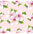 Nature seamless pattern with flowers sakura vector image