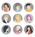People icons People Flat icons collection vector image