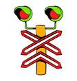 rail crossing signal icon icon cartoon vector image