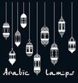 ramadan kareem arabic lantern design template vector image