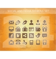 social and media pictograms set isolated vector image