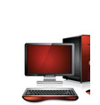 computer station vector image