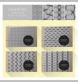 Set of geometric seamless pattern 4 vector image
