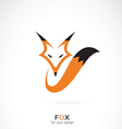 Fox design on white background vector image