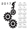 2017 calendar with a worker in the rat race vector image