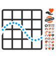 function chart icon with dating bonus vector image