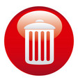 red can trash emblem icon vector image