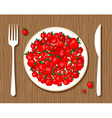 apples on plate vector image vector image