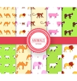 collection set of animal seamless pattern Lion vector image