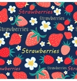 Seamless pattern with a strawberry vector image vector image