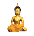 Abstract Buddha statue low poly style background vector image