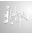 Abstract Music Background Notes Made from Paper vector image