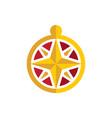 compass icon logo design vector image