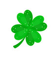 four-leaf clover in sequins vector image