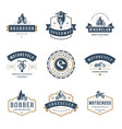 motorcycles logos templates design elements vector image
