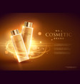 premium cosmetic brand advertising concept design vector image