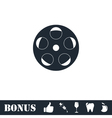 Reel film icon flat vector image