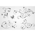 Set of floral design vector image