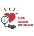 Blood pressure measurement icon vector image
