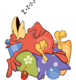 Parrot on pillows cartoon vector image