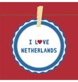 I lOVE NETHERLANDS4 vector image