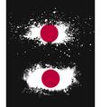 Grunge japanese ink splattered flag vector image vector image