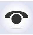 Phone retro icon in vector image