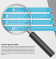 infographic with a magnifying glass vector image
