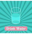 Drink water Starburst blue background Infographic vector image