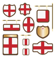 england plaques vector image vector image