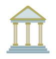 bank building financial business symbol vector image