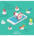 Digital marketing isometric flat concept vector image