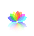 Flower abstract logo template vector image