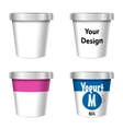 Food Plastic Tub Bucket Container vector image