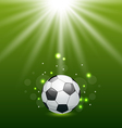 Football background with ball and light effect vector image